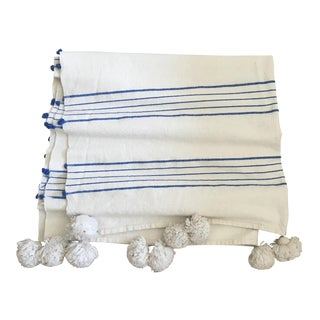 Moroccan Cotton Striped Throw Blanket