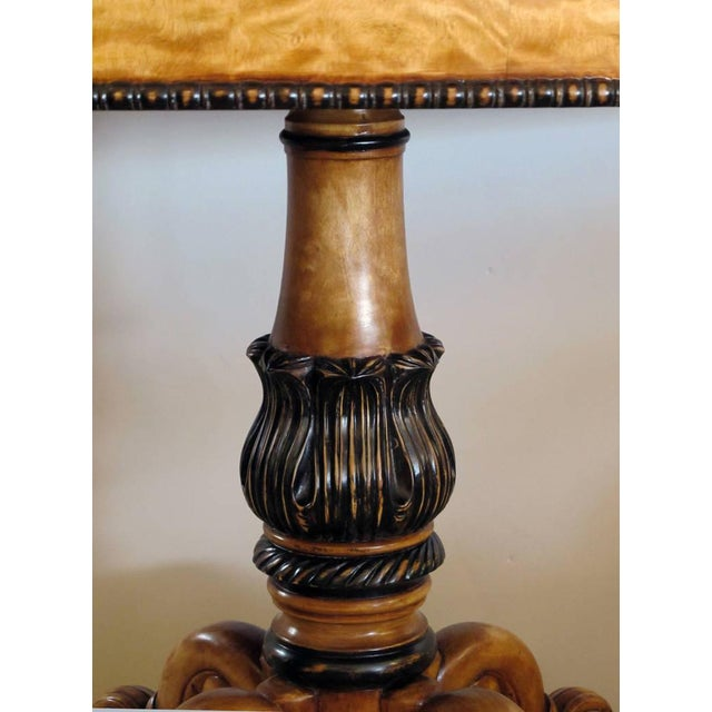 Image of Warmly Patinated Swedish Biedermeier, Oval Birch Center Table