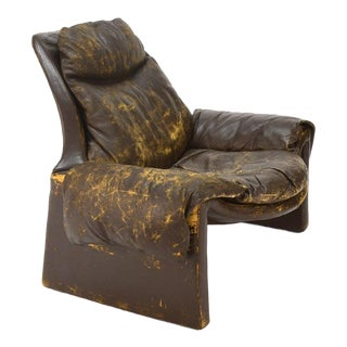 Vittorio Introini Distressed Leather Lounge