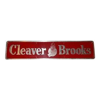 Vintage Cleaver Brooks Metal Sign