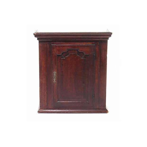 18th Century Georgian English Wall Cabinet - Image 1 of 2
