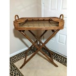 Image of Vintage Mini Rattan Folding Mini Bar