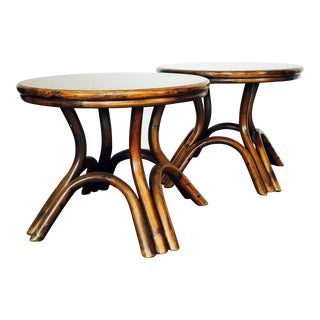 Vintage Bentwood Side Tables - Pair