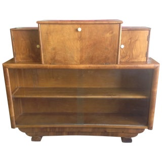 Art Deco Style Wooden Bar Cabinet