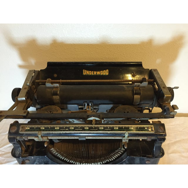 Antique 1908 Black Underwood Typewriter - Image 7 of 11