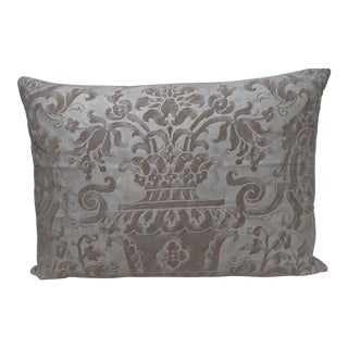 Silver & Gold Fortuny Textile Pillow