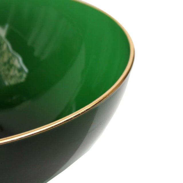 Round Emerald Green Bowl - Image 3 of 4