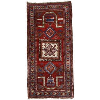 "Pasargad Antique Russian Kazak Lamb's Wool Rug - 4'2"" X 8'9"""