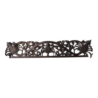 Pineapple Motif Highly Carved Wood Moulding