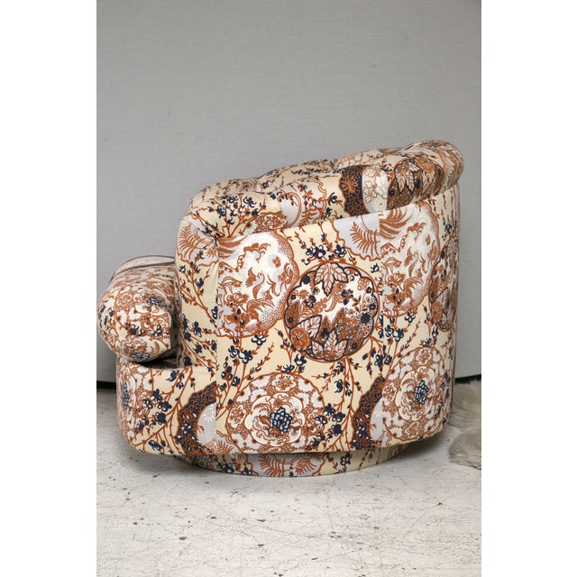 Milo Baughman Swivel Chairs - Pair - Image 5 of 7