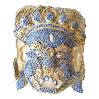 Indian Tribal Mask With Blue Stones