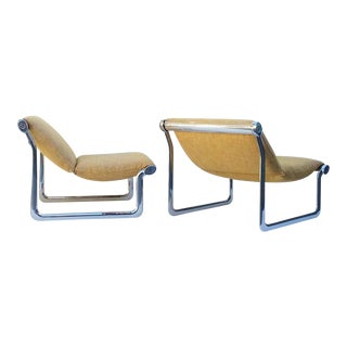 Polished Aluminum Lounge Chairs by Hannah Morrison - A Pair