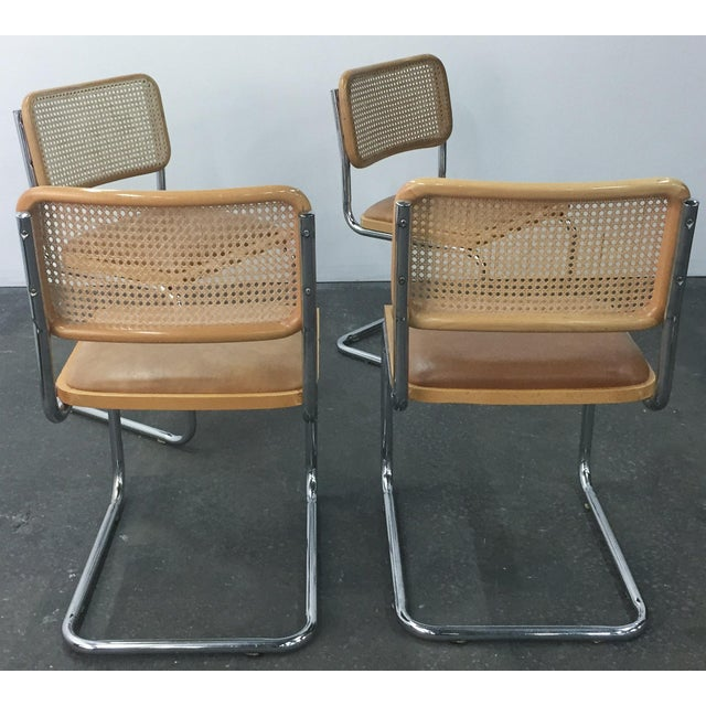 Vintage Breuer Cesca Style Chrome & Cane Chairs - Set of 4 - Image 4 of 8