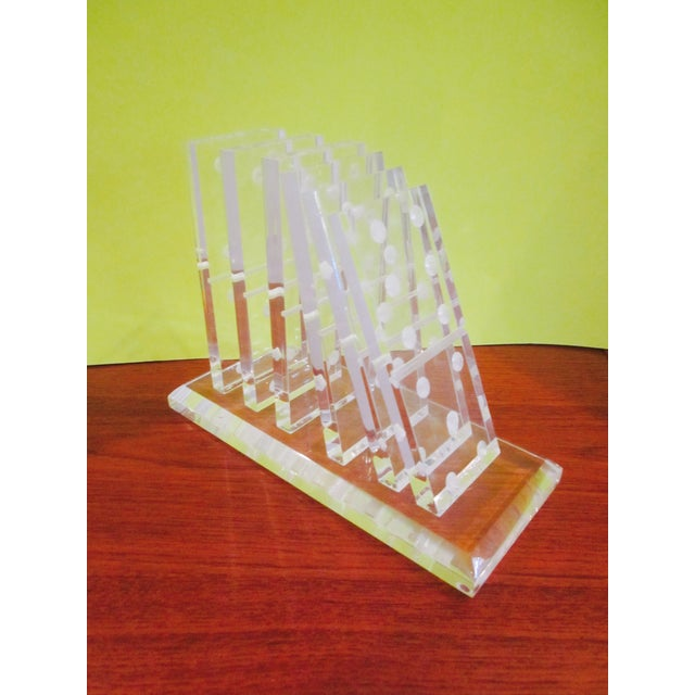Image of Modernist Lucite Domino Sculpture or Bookend