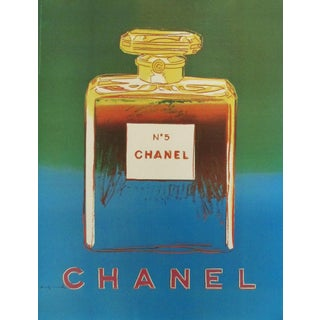 Green Andy Warhol Chanel #5 Poster