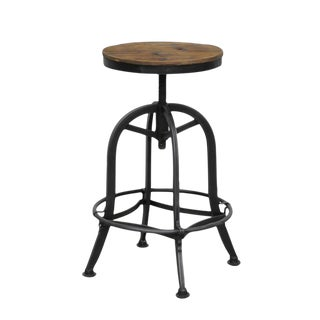 Reclaimed Wood & Iron Counter Stool