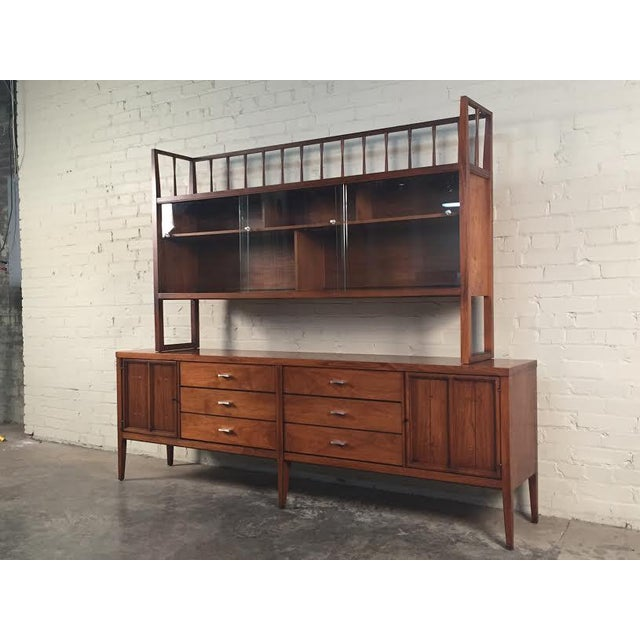lane tuxedo mid century modern buffet with hutch chairish