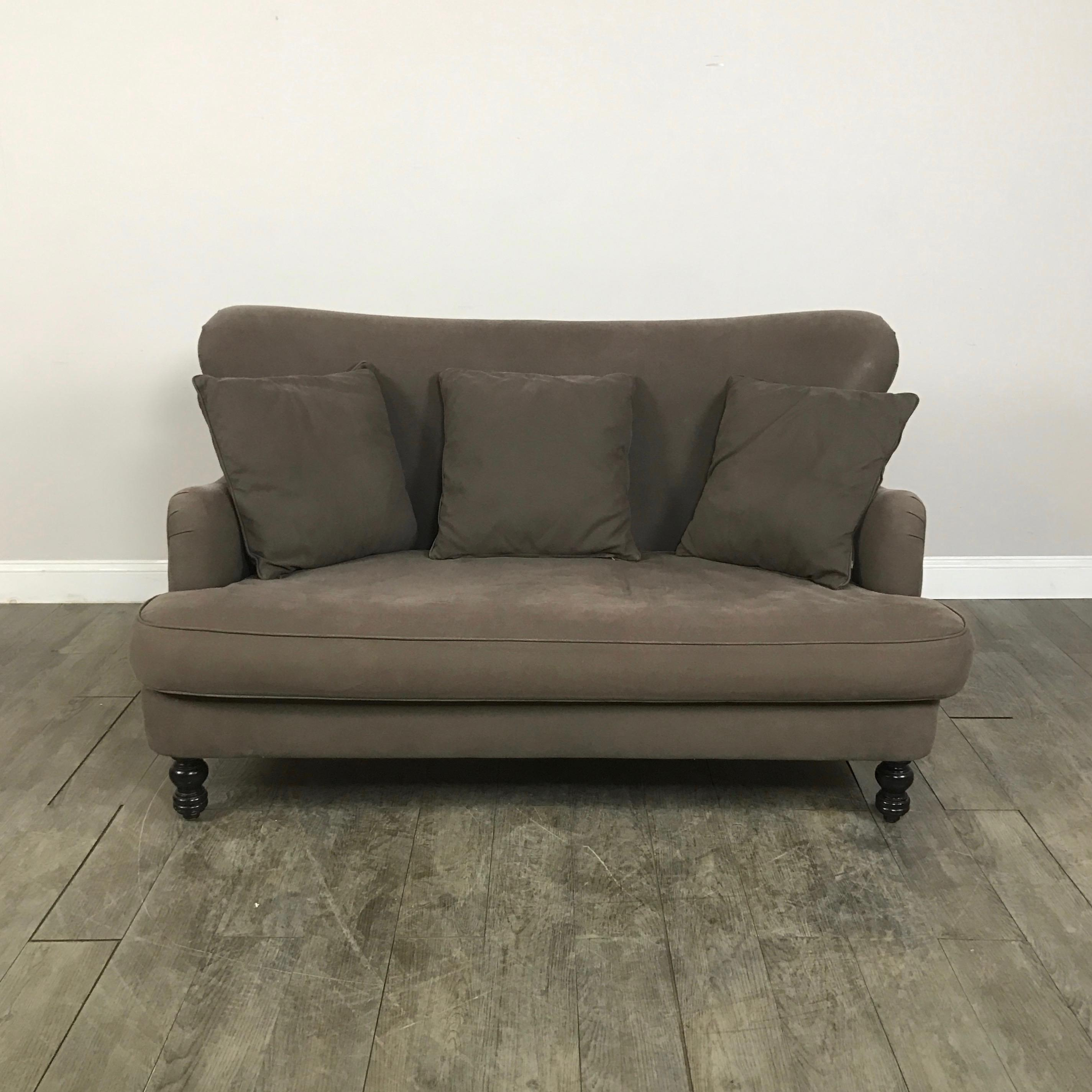 image of cisco brothers curved loveseat sofa - Curved Loveseat