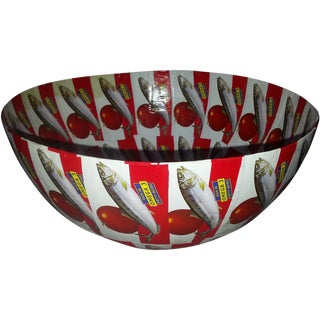 African Red Saldanha Large Round Bowl