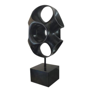 Black Abstract Sculpture
