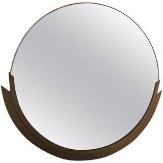 1930s Vintage French Art Deco Bronze Frame Mirror