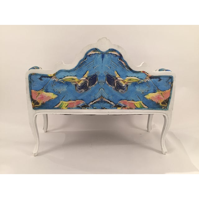 Antique French Louis XV Style Restored Settee - Image 4 of 11
