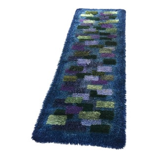 Purple & Green Hand Knotted Wool Rug - 6′ × 9′10″