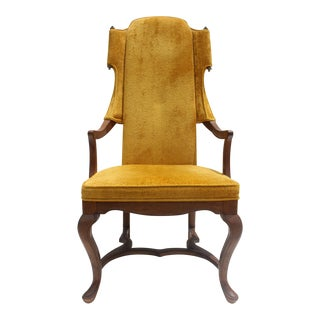 Jim Peed For Drexel Brass Final Accent Tall Wingback Chair