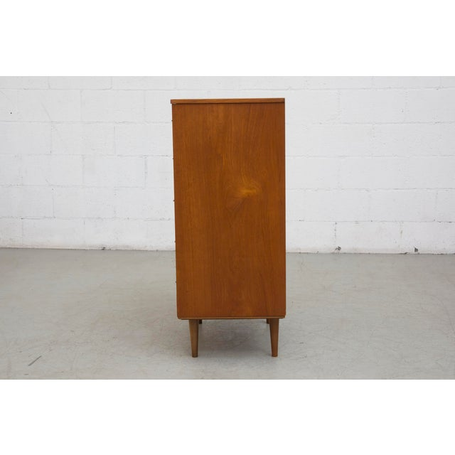 Image of Mid-Century Tall Boy Teak Dresser