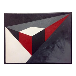 Abstract Geometric Acrylic Painting