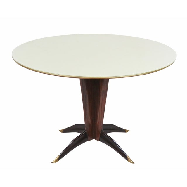 Buffa-Style Rosewood & Glass Dining Table - Image 1 of 5