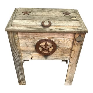 Vintage Texas Americana Ice Box.