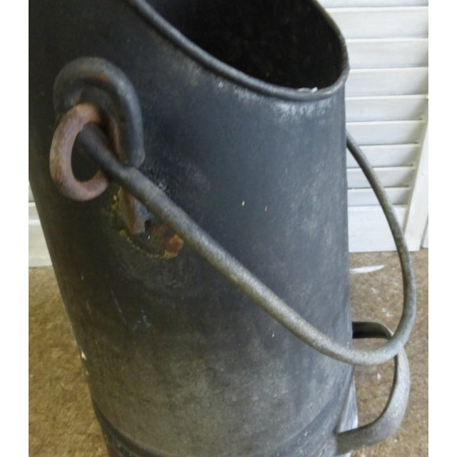 Vintage French Zinc Coal Scuttle -A - Image 5 of 7