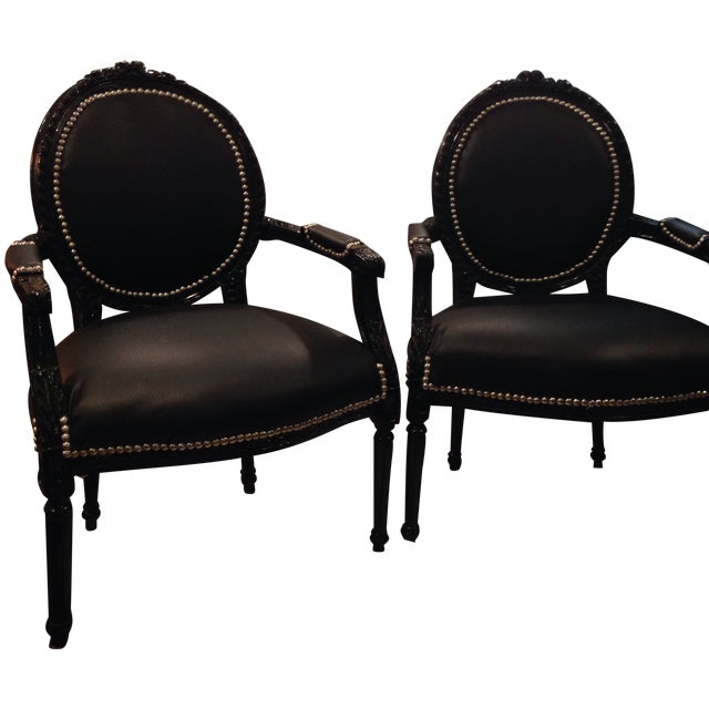 Image of 2 French Arm Chairs- One Price