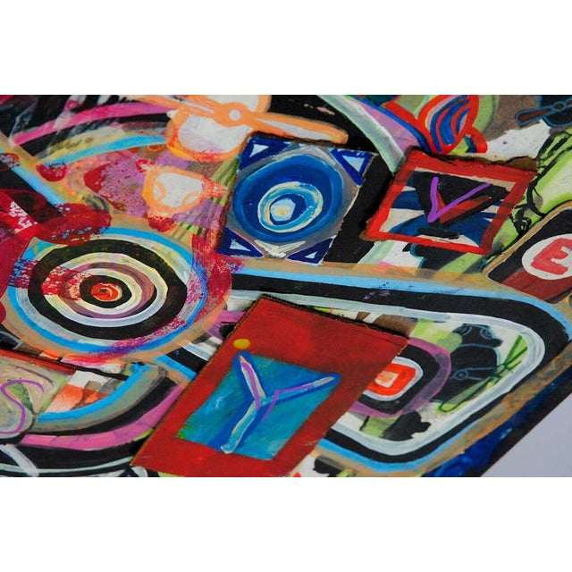 Antjuan Oden Hexagon Assemblage Painting - Image 5 of 5