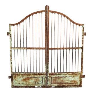 Vintage Iron Garden Gate