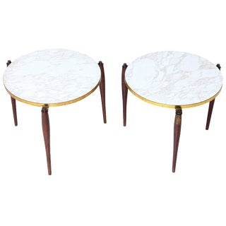 Mid-Century Round Side Tables - A Pair