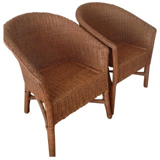Palecek Wicker Chairs - Pair