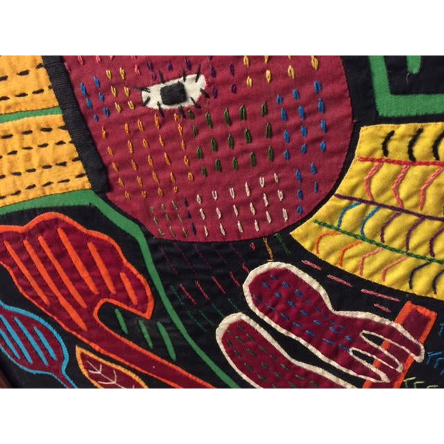 Mid-Century Framed Kuna Mola Textile Art - Image 5 of 5