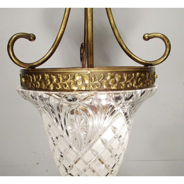 Image of Vintage Crystal Dome Pendant Ring Chandelier