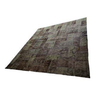 HD Buttercup Hand Knotted Wool Patchwork Rug - 14′1″ × 15′1″