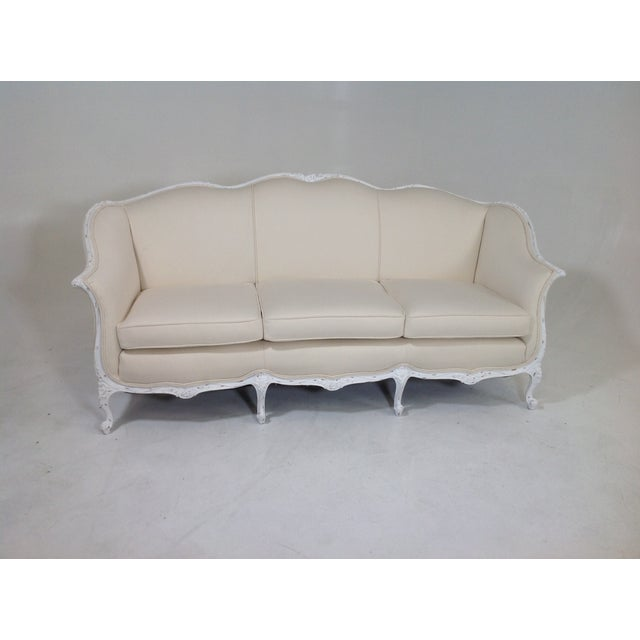 Antique country french shabby chic sofa chairish - French country sectional sofas ...