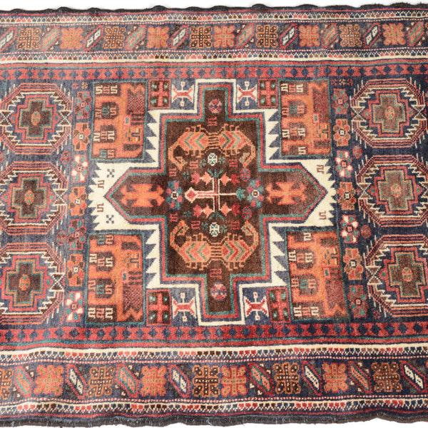 Hand Knotted Persian Baluch Rug - 3′3″ × 6′10″ - Image 4 of 9