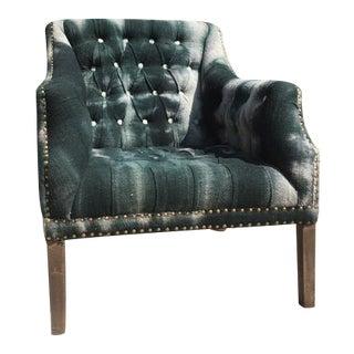 Lisa Sherman Antiques Tie Dye Upholstery Arm Chair