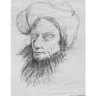 'Man With a Turban' Contemporary Ink Drawing