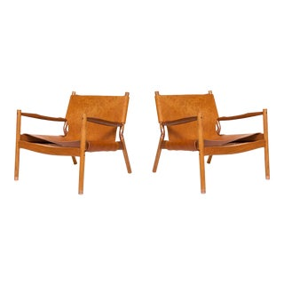 Pair of Erickson Aesthetics Teak Lounge