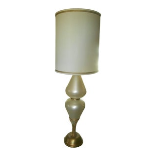 Midcentury Hollywood Regency Opalescent Table Lamp
