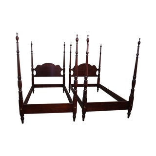 Statton Old Towne Cherry Twin Poster Beds - Pair