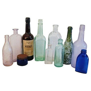 Antique Bottle Collection - Set of 11