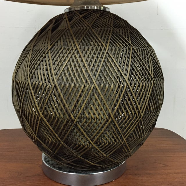 Optic Woven Cane Table Lamp - Image 7 of 11